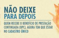 BENEFICIÁRIOS DO BPC/LOAS DEVEM FAZER A INSCRIÇÃO ATÉ 31 DE DEZEMBRO