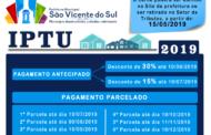 LEI MUNICIPAL Nº 5604/2018,  FIXA O CALENDÁRIO DO IPTU PARA O ANO DE 2019