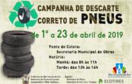 SECRETARIA DO MEIO AMBIENTE INICIARÁ A 2ª EDIÇÃO DA CAMPANHA DE DESCARTE CORRETO DE PNEUS