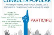 PLANO MUNICIPAL DE SANEAMENTO BÁSICO - CONSULTA POPULAR