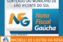 SORTEIO MUNICIPAL DO PROGRAMA NOTA FISCAL GAÚCHA CONTEMPLA MAIS UM VICENTENSE