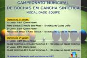 CAMPEONATO MUNICIPAL DE BOCHA EM CANCHA SINTÉTICA CHEGA ÀS FINAIS