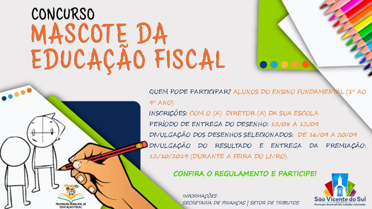 SÃO VICENTE DO SUL ABRE CONCURSO PARA ELEGER MASCOTE DA EDUCAÇÃO FISCAL
