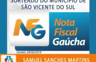 QUARTO SORTEIO MUNICIPAL DO PROGRAMA NOTA FISCAL GAÚCHA ACONTECEU NESTA QUINTA-FEIRA
