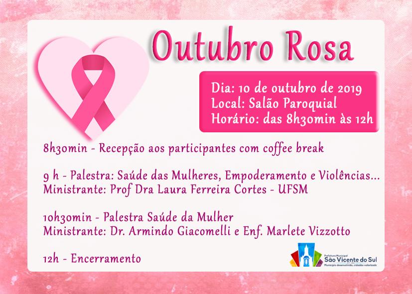 ATIVIDADE ALUSIVA AO OUTUBRO ROSA
