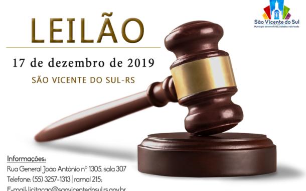 PREFEITURA DE SÃO VICENTE DO SUL REALIZARÁ LEILÃO