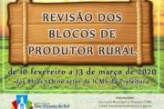 REVISÃO DOS BLOCOS DE PRODUTORES RURAIS
