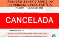 ATENÇÃO BENEFICIÁRIOS DO PROGRAMA BOLSA FAMÍLIA - SUSPENSÃO DAS PESAGENS