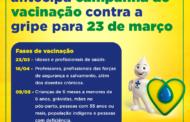 CAMPANHA DE VACINAÇÃO CONTRA A GRIPE É ANTECIPADA PARA 23 DE MARÇO