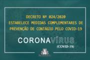 SÃO VICENTE DO SUL PUBLICA DECRETO COMPLEMENTAR A PREVENÇÃO DE CONTÁGIO PELO COVID-19