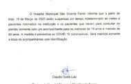 INFORMAÇÃO DE UTILIDADE PÚBLICA – HOSPITAL SÃO VICENTE FERRER