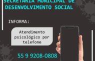 ATENDIMENTO PSICOLÓGICO POR TELEFONE
