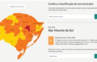 SÃO VICENTE DO SUL ESTÁ NA BANDEIRA LARANJA CONFORME MODELO DE DISTANCIAMENTO CONTROLADO