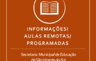 AULAS REMOTAS/PROGRAMADAS CONTINUAM NO MÊS DE JULHO PARA A REDE MUNICIPAL DE ENSINO