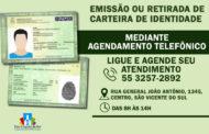 ENCAMINHAMENTO DE CARTEIRAS DE IDENTIDADE VOLTARÃO A SER CONFECCIONADAS MEDIANTE AGENDAMENTO