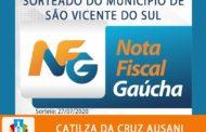 NOTA FISCAL GAÚCHA CONTEMPLA MAIS UMA GANHADORA EM SÃO VICENTE DO SUL