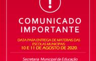 4ª ENTREGA DE MATERIAIS PARA ALUNOS DA REDE MUNICIPAL DE ENSINO