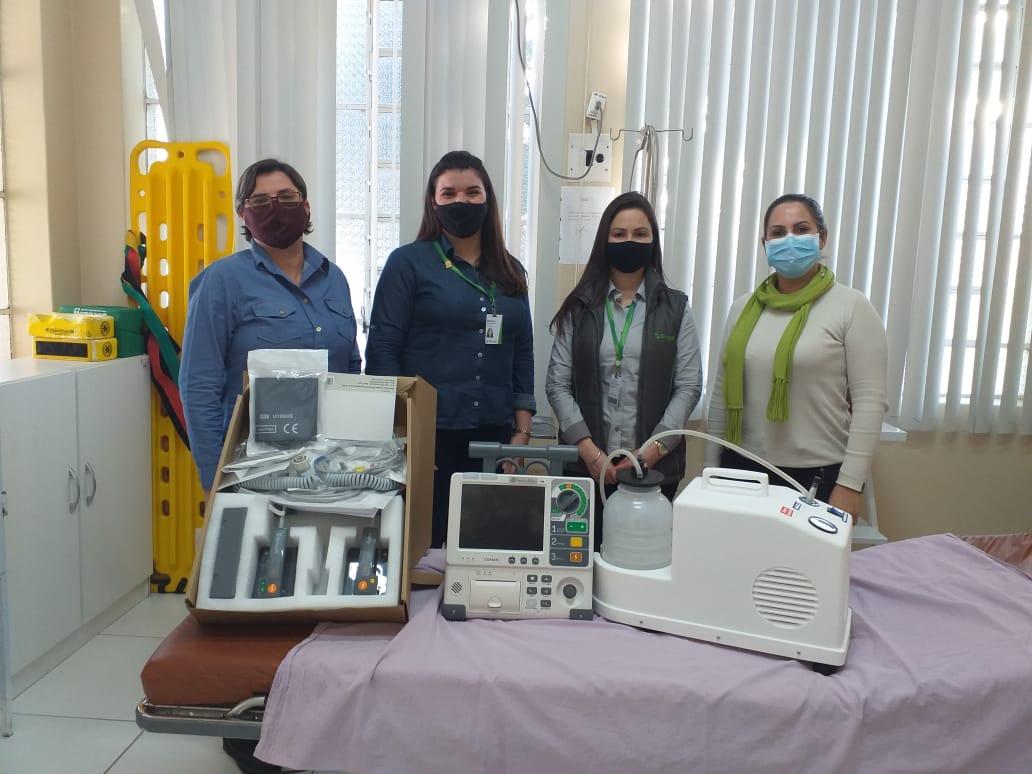 HOSPITAL SÃO VICENTE FERRER RECEBE EQUIPAMENTOS DOADOS PELO SICREDI