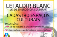 INSCRIÇÕES ABERTA PARA ESPAÇOS CULTURAIS - LEI ALDIR BLANC